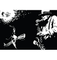 musician grunge vector image vector image