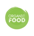organic food rubber stamp vector image vector image