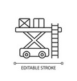 ramp services chalk linear icon vector image