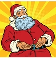 Retro Santa Claus New year and Christmas vector image