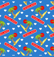 seamless pattern for thailand vector image
