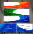 set colorful business stationery design vector image vector image