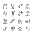 Set line icons of welding vector image vector image