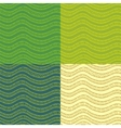 Set of abstract wavy seamless patterns vector image vector image