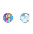 Set of baby and family icons vector image vector image