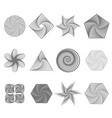 set of different geometric ornaments vector image vector image