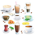 set of non-alcoholic beverages vector image vector image
