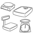 set of weighing machine vector image vector image