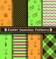 set scrapbook easter seamless patterns vector image vector image