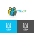 simple teamwork group of three people human vector image