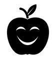 smile apple icon simple black style vector image vector image