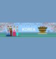south korea travel destination banner korean vector image vector image