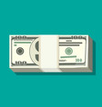 stack of dollar banknotes vector image
