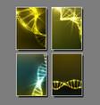strand spiral of dna molecule set banner vector image vector image