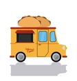 taco truck fast food icon graphic vector image