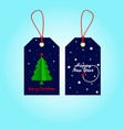tags for christmas and new year tags set and vector image vector image
