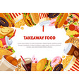 takeaway food banner template with delicious fast vector image vector image