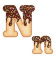 tempting typography font design 3d donut letter n vector image vector image