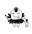tooth fairy sketch for your design vector image vector image