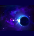 total eclipse solar or lunar moon cover sun space vector image