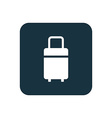 travel bag icon Rounded squares button vector image vector image