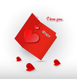 Valentine Red Greeting Card Isolated on White vector image vector image