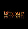 welcome text lettering vector image vector image