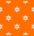 wild west pattern orange vector image vector image