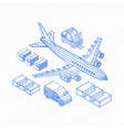 wireframe of logistics icons vector image vector image