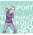 woman exercising with a resistance rope vector image vector image