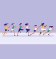 women athlete running avatar character