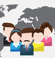 world business people teamwork cartoon vector image