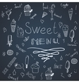 Hend draw set of ice-creams and ice-lolly vector image