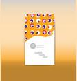 a4 minimal color design annual report brochure vector image