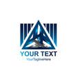 3d abstract triangle logo concept pyramid vector image