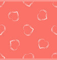 abstract seamless background with hearts in vector image vector image