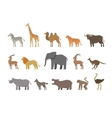 animals set colored icons isolated on white vector image vector image
