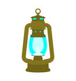 antique retro brass old kerosene lamp vector image vector image