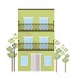 architecture facade building vector image vector image