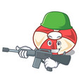 army swim tube character cartoon vector image vector image