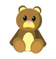 bear teddy cute toy childhood vector image vector image