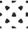 big cake pattern seamless black vector image vector image