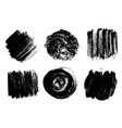 black brush strokes isolated on white vector image vector image