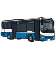 Blue and white city bus vector image