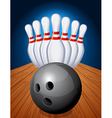 Bowling pins and ball vector | Price: 1 Credit (USD $1)