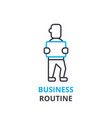 business routine concept outline icon linear vector image vector image