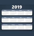 calendar 2018 year design template in vector image vector image