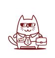 Cartoon Cat Character vector image