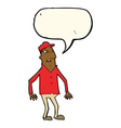 cartoon shocked man with speech bubble vector image vector image