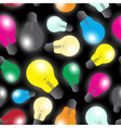 color light bulbs - light source seamless pattern vector image vector image